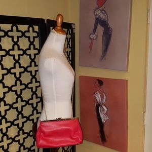 VINTAGE RED GOLD CROSSBODY/CLUTCH